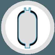 Piston Accumulator | Back-up Bottle | Steelhead Composits